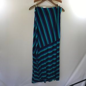 Matty M Striped Maxi Dress Size XL